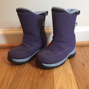 Lands End purple snow boots winter boots